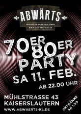 Abwärts Musicclub 70er 80er Party