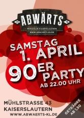 90er Party im Abwärts Musicclub