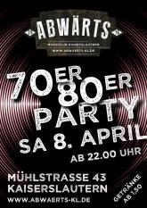 70er 80er Party im Abwärts Musicclub