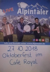 Oktoberfest im Cafe Royal