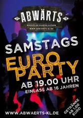 Abwärts Samstags Euro Party