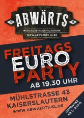 Abwärts Freitags Euro Party