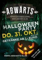 Abwärts Halloween Party
