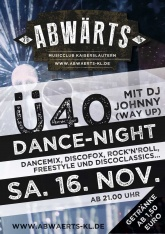 Abwärts Ü40 Dance-Night mit DJ Johnny